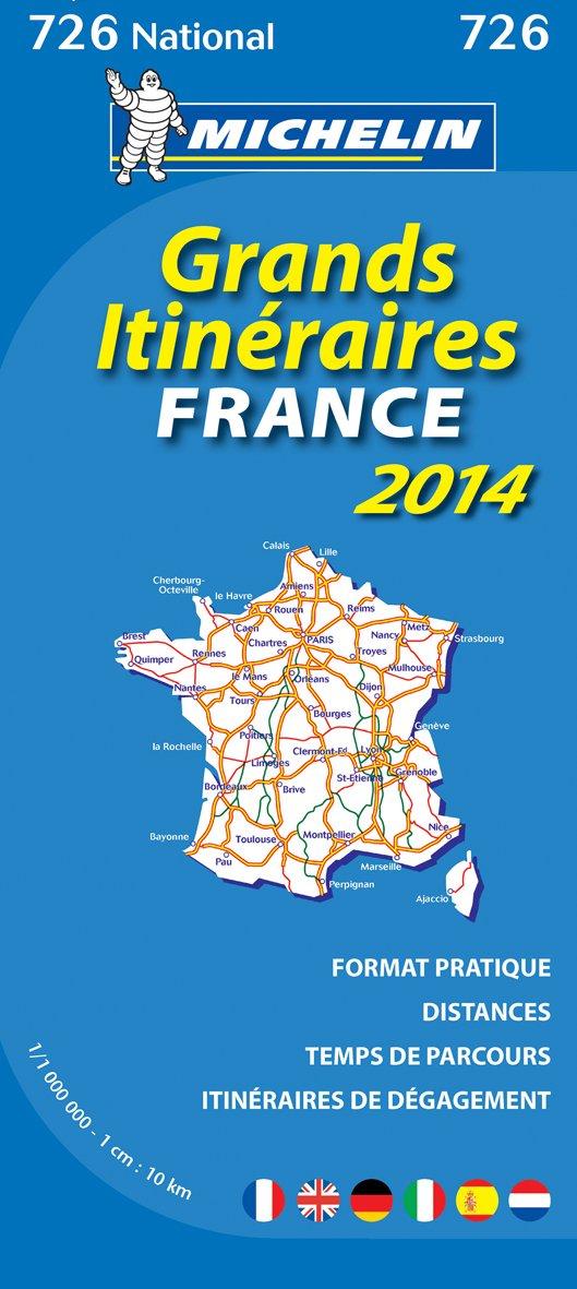 Michelin Frankreich Fernrouten 2014: Straßenkarte 1:1.000.000 (MICHELIN Nationalkarten)