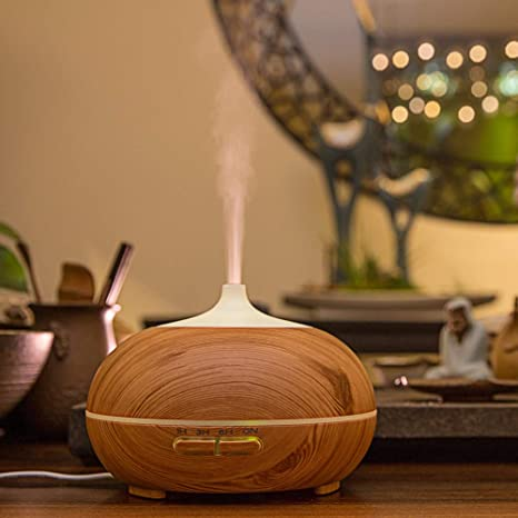 APRITECH® Essential Oil Diffuser Aroma Diffuser Portable Aromatherapy Diffuser with 7 Colorful Lights Waterless Automatically Shut Off Diffuser