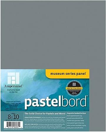 8X10 White Ampersand Pastelbord 1//8 Inch Depth