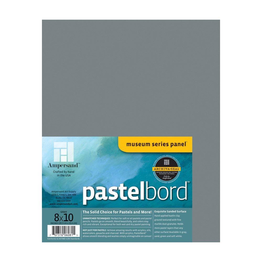 Ampersand Art Pastelbord 8 x 10 Gray MACPHERSON