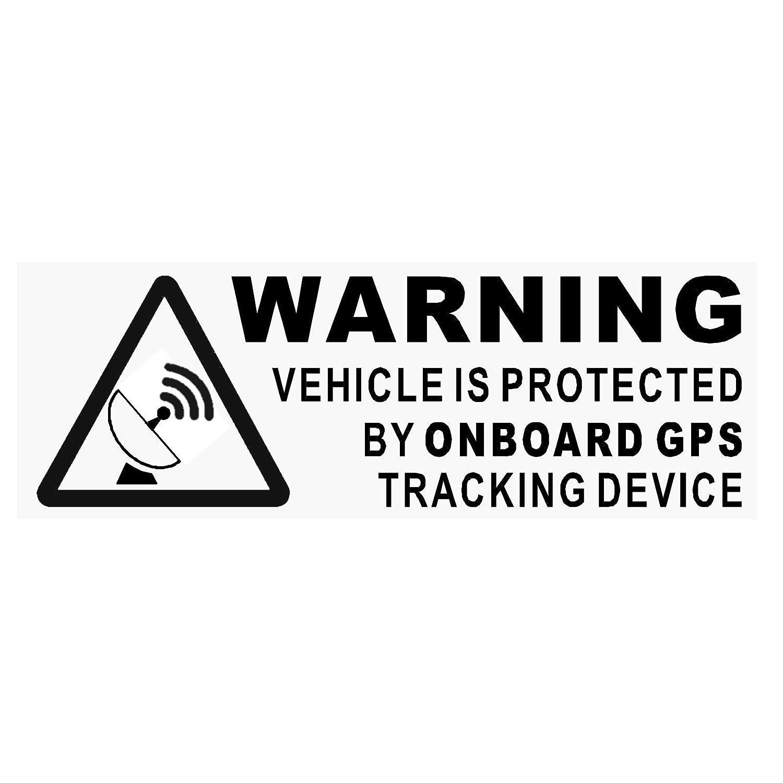 tableau de bord noir de protection//s/écurit/é//alarme pour voiture//van//bateau//v/élo 5/Autocollants d/'avertissements On Board GPS Tracking