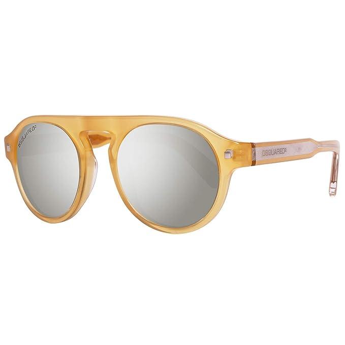 Dsquared2 Sonnenbrille DQ0150 39N 48 Gafas de sol, Amarillo (Gelb), 48.0 Unisex Adulto