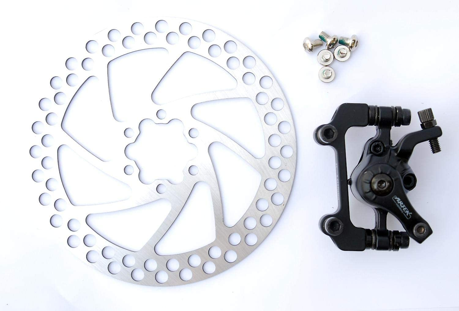 Artek Coyote Mountain Bike Mechanical Front Rear Cable Disc Brake Caliper /& Rotor Set 160mm Inc Bolts Upgrade To Your Bike To Disc Brakes