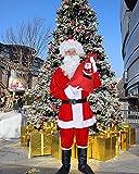 VILETKE Adult Santa Costume Christmas Santa Claus Costume Suit Deluxe Velvet Santa Suit For Holiday Santa Cosplay Costumes