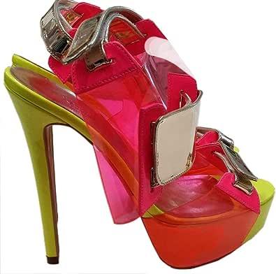 Karisma Multi Color Heel Sandal For Women