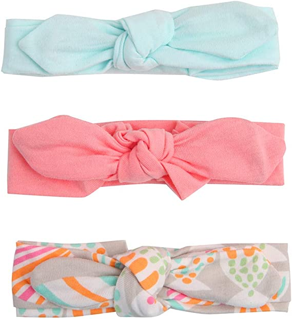 3Pcs Baby Girl Headbands Stretchy Cotton Headbands with Gift Package for Girls and Toddlers