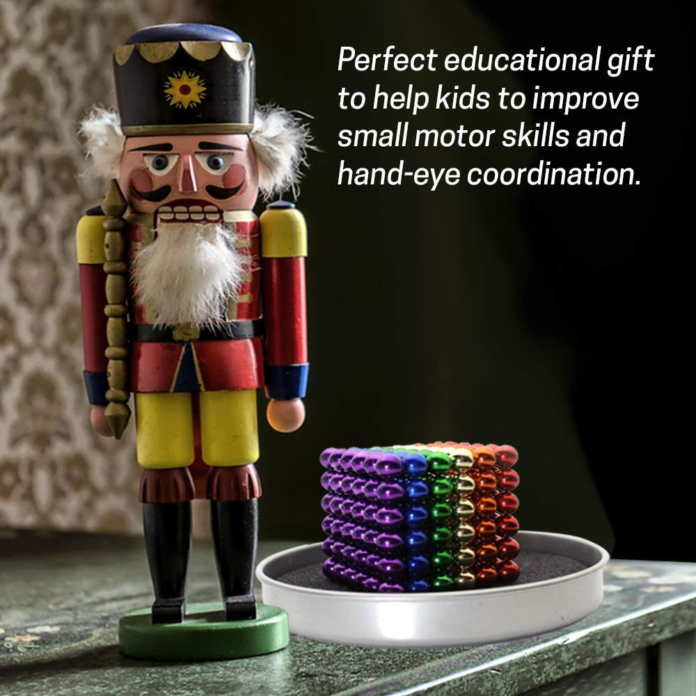 Ixir 5MM Magnetic Ball Set for Office Stress Relief Desk Sculpture Toy Perfect for Crafts, Jewelry and Education Magnetized Fidget Cube Provides Relief for Anxiety, ADHD, Autism, Boredom Mixed by Ixir (Image #6)