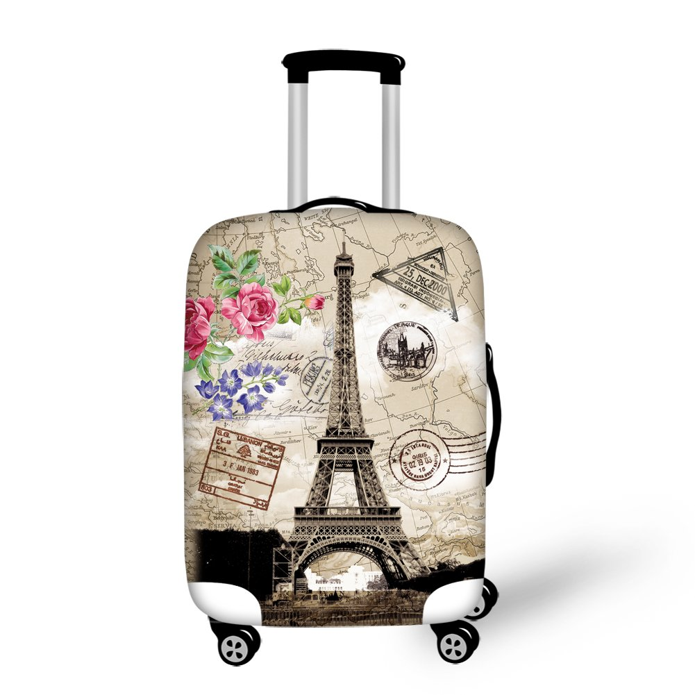 Summeridea Eiffel Tower Print Covers Apply to 18-30 Inch Travel Suitcase YD-D050SML