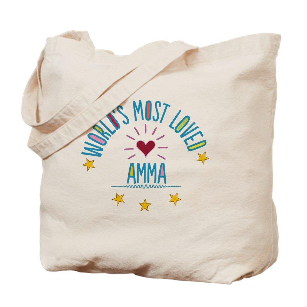 CafePress – World 's Most Loved Amma – ナチュラルキャンバストートバッグ、布ショッピングバッグ B01CH6T762