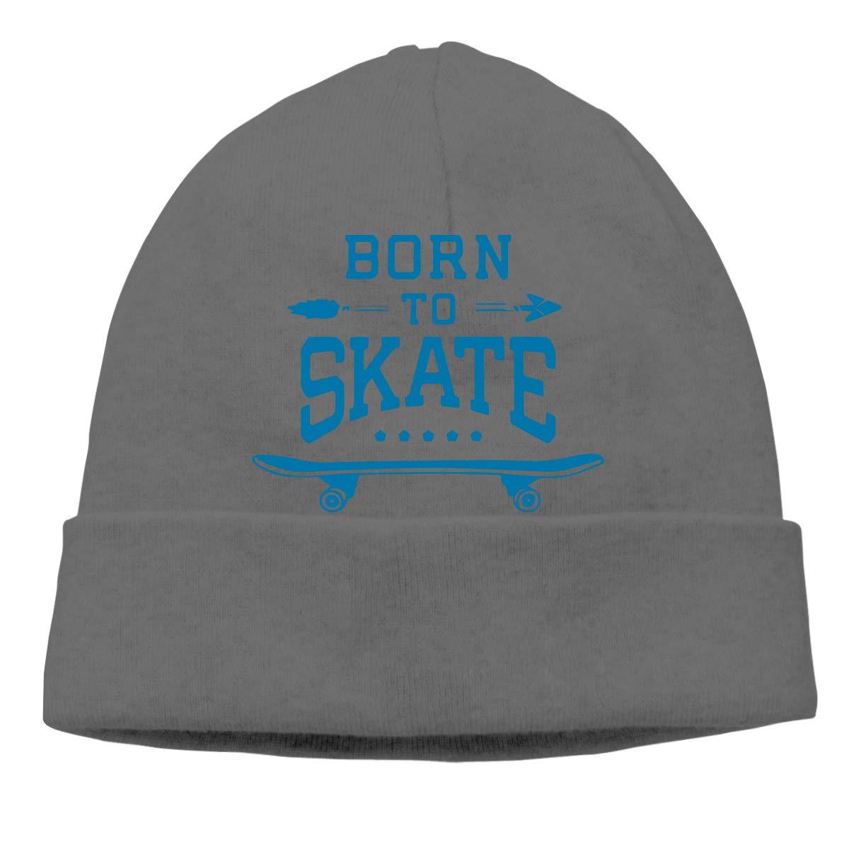 Skateboard Born to Skate Men Women Great Thermal Sports Beanie Cap