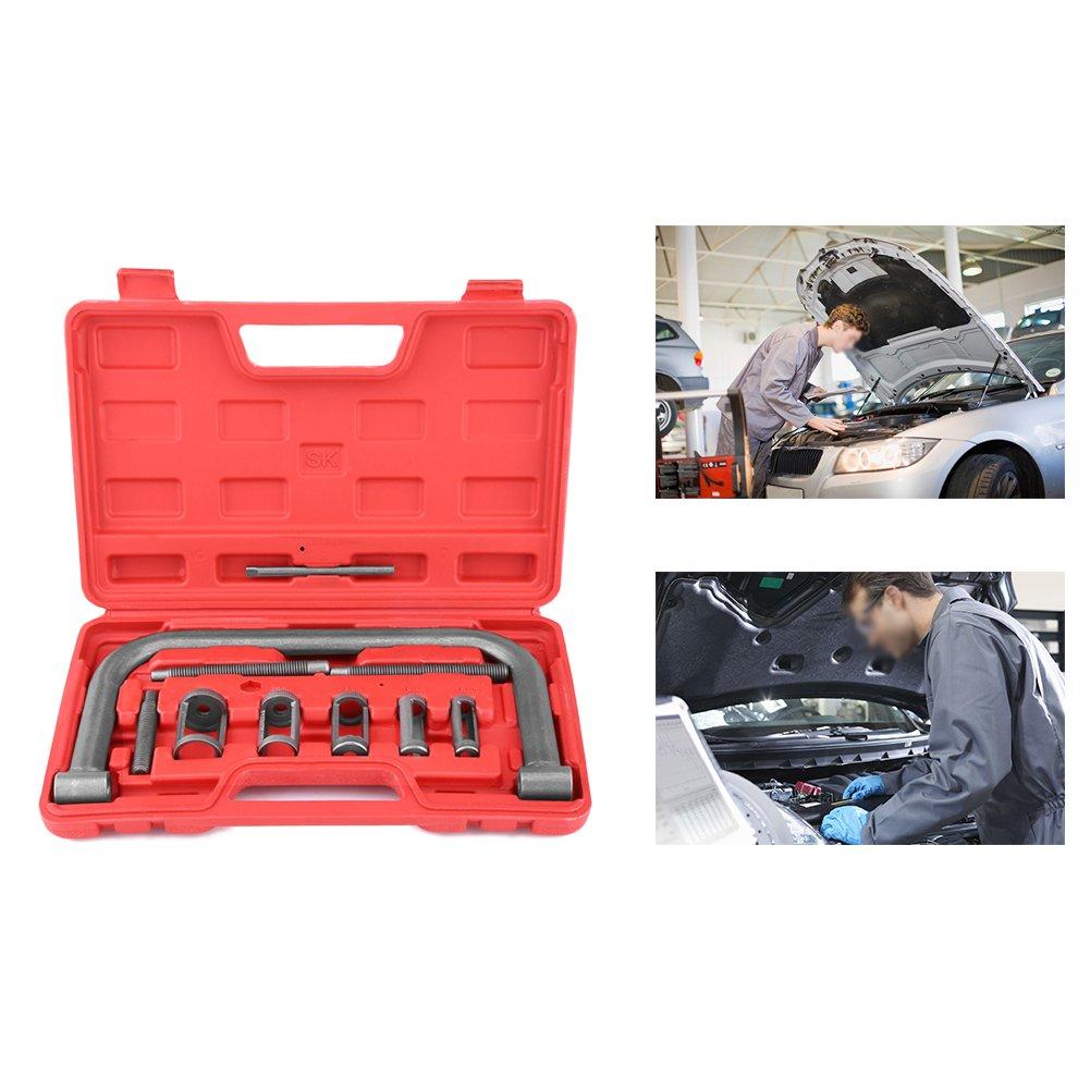 Spring Compressor Set,10 Pcs Valve Spring Compressor Set Removal Installer Tool Kit For Car Van Motorcycle Engines by Estink (Image #1)