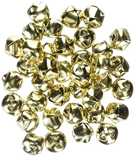 Darice 48-Piece Gold Bells, 1/2-Inch