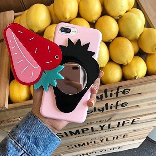 MXNET Iphone 7 Plus Fall, IMD Kunstfertigkeit Strawberry Pattern Mirror Schutzmaßnahmen Rückseite Fall Fall CASE FÜR IPHONE 7 PLUS