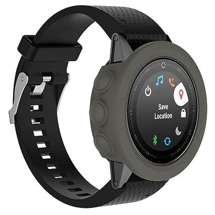 Fundas Garmin Fenix 5S Plus Silicona, Zolimx Reloj de Protector de Pantalla Case Carcasa Delgada de Repuesto para Garmin Fenix 5S Plus Smartwatch