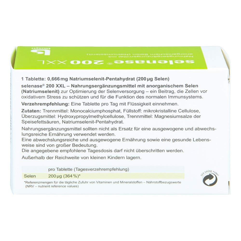 XXL tabletas 100 unidades selenase® 200: Amazon.es: Salud y cuidado ...