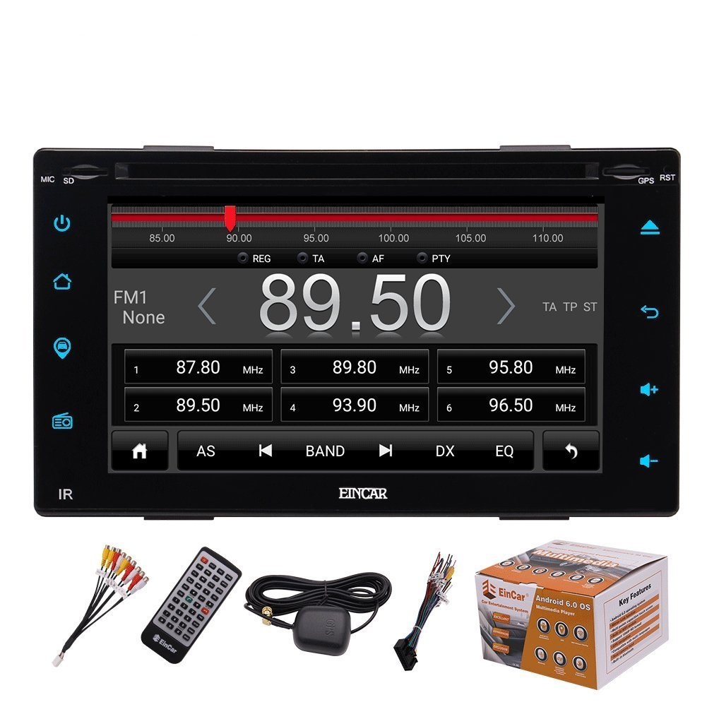 7 inch Touch Screen,External Mic,Remote Control EinCar Direct pTT.AN7023GNN2 WiFi Support Mirror Link New Eincar Android 6.0 Car Stereo Radio Double Din with Bluetooth GPS Navigation Quad Core 64GB USB SD Backup Camera in