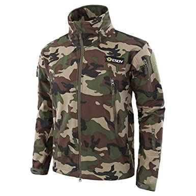 d363d310bea9c Army Camouflage Men Jacket Military Coat Tactical Jacket Winter Waterproof  Soft Shell Jackets Windproof Hunting Clothing