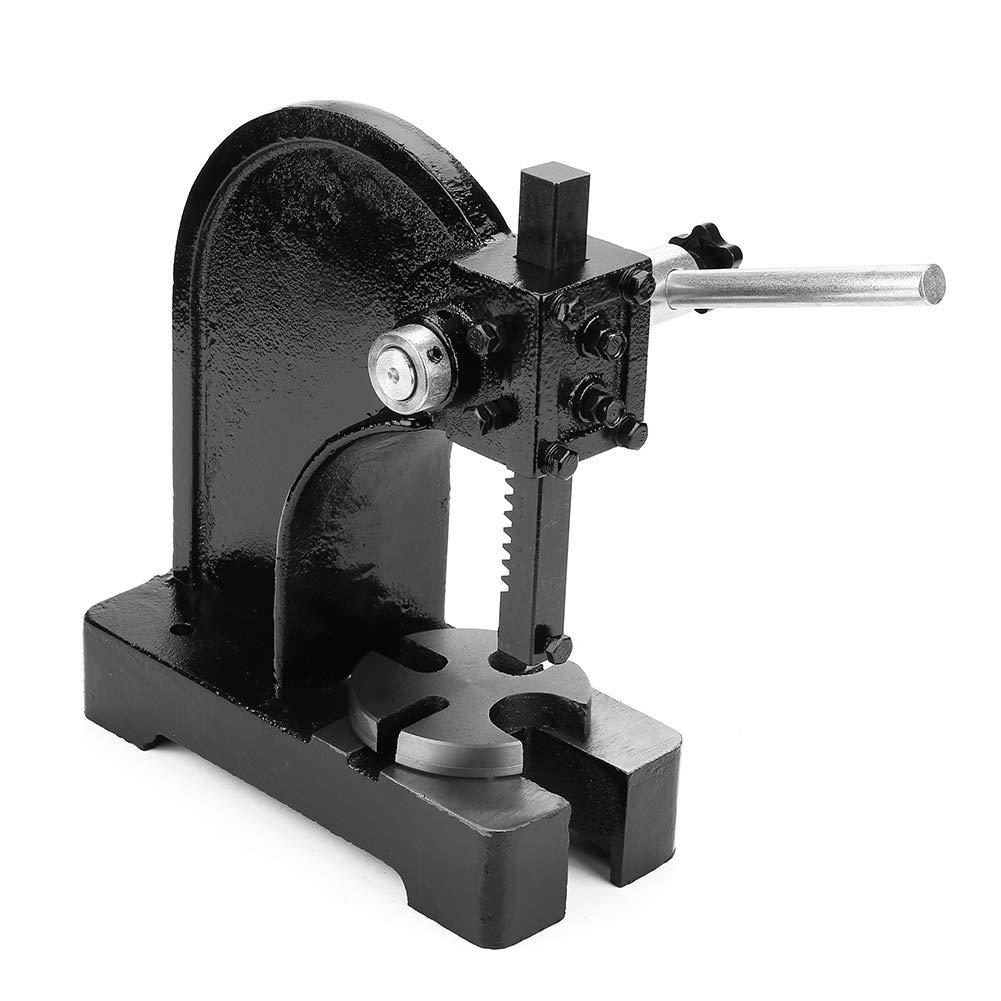 Arbor Press, 0.5T 4.1''/104mm Manual Desktop Hand Punch Press Machine Metal Arbor Press Tool for Press Bearing Brass Riveting by Zerone (Image #7)