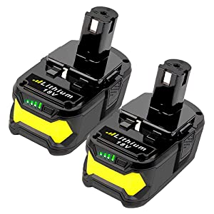 VANON 4.0Ah P108 Replacement Battery for Ryobi One+, 18V Li-ion Battery for Ryobi One+ P104 P105 P102 P103 P107 Cordless Power Tools (2 Pack)