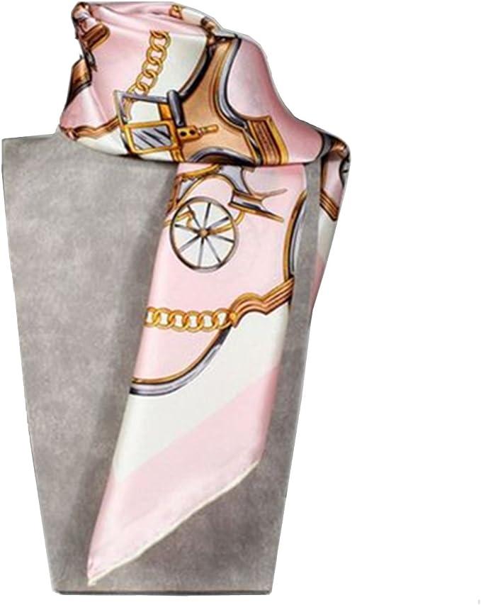 rosa Staffe,/' sciarpa quadrata 100/% seta 55 x 55cm Silk Run