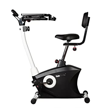 loctek exercise bike desk bike office cardio indoor stationary workstation cycling with laptop upright bike
