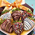 Golden State Fruit 6 Piece Happy Birthday Chocolate Covered Strawberries from Golden State Fruit - DROPSHIP