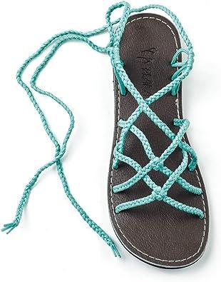 Plaka Flat Gladiator Sandals for Women Sahara