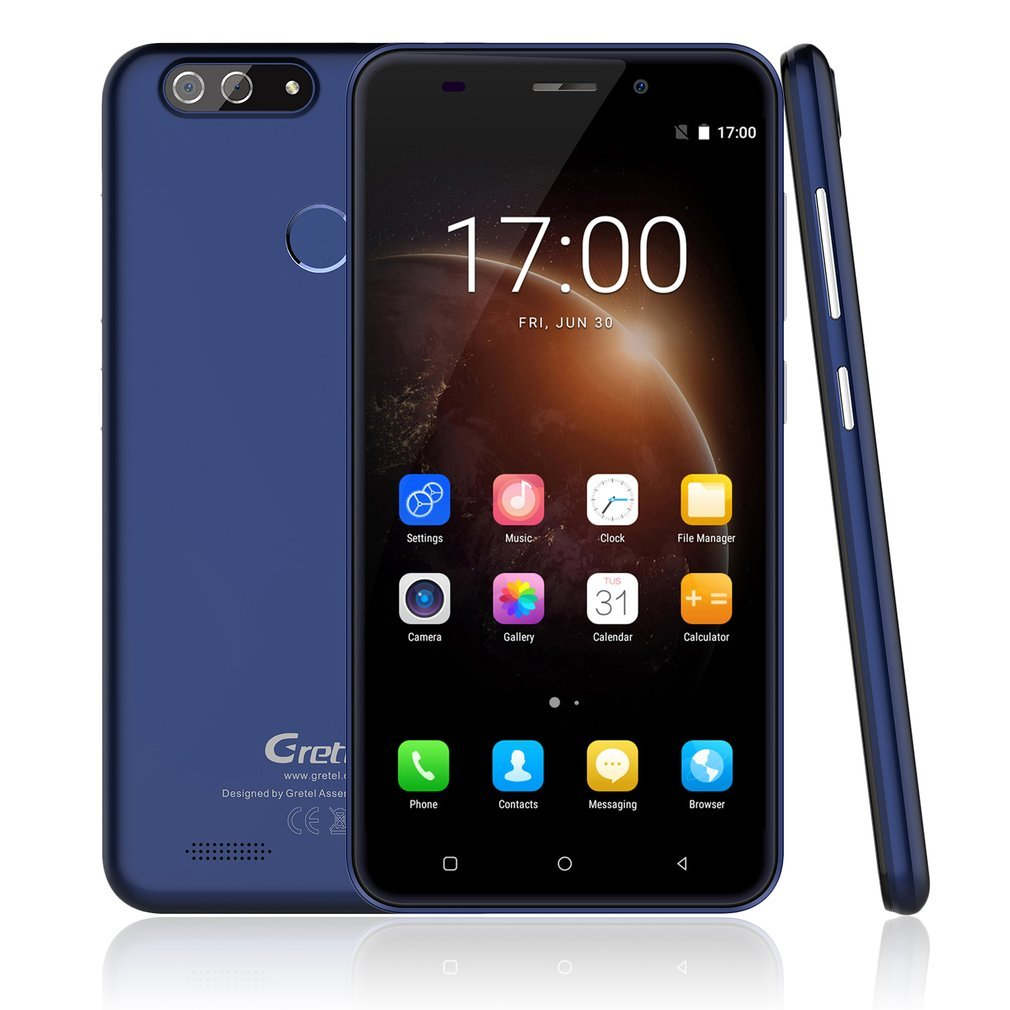 Dual Rear Camera Mobile Phone,Gretel S55 smartphone Dual SIM Cheap Phone  Andriod 7 0,Double 8MP+0 3MP Rear SAMSUNG Camera Lens,5 5 Inch IPS