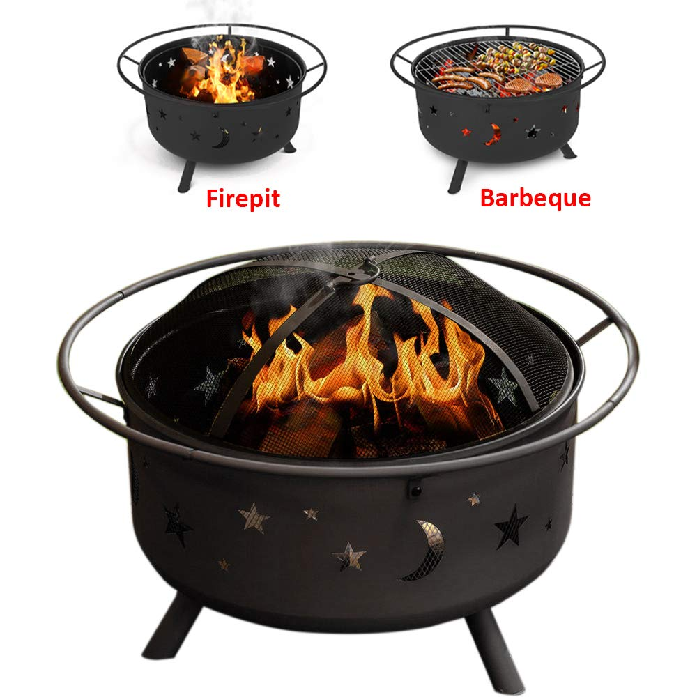 Fire Pit Decking Heater Patio BBQ GRILL HEATER Brazier Wood Burner tufftex Cover