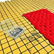 Blocking Mats for Knitting - Precise Grid with 1 inch squares - Includes 100 T-Pins for Needlepoint and Crochet - Yellow