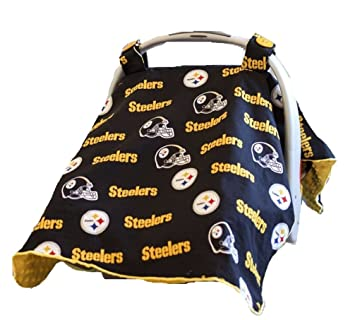 Carseat Canopy NFL Pittsburgh Steelers Baby Infant Car Seat Cover