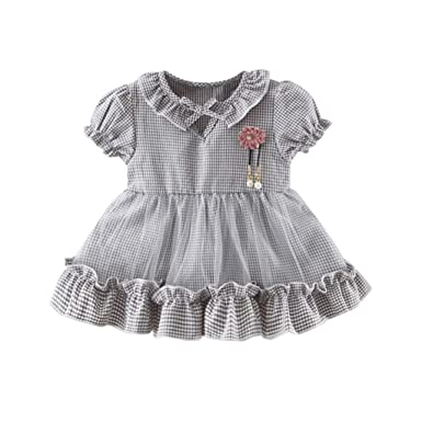 Vestido de Niña, Vestido para Bebés Fruncido Volantes Patchwork ...