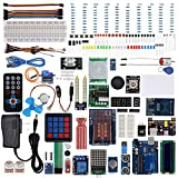 Smraza Super Project Starter Kit with Tutorials,UNO R3,LCD1602 Display,9V 1A Power Supply,RFID,Servo Motor,ect. for Arduino UNO R3 Mega2560 Robot Nano