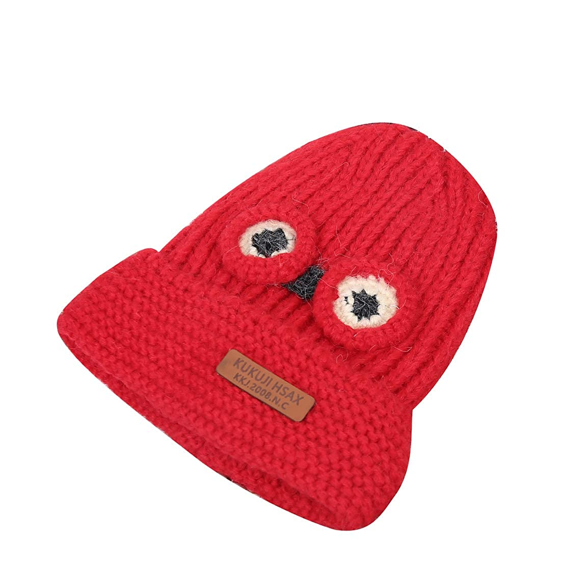 ACVIP Little Kids Big Eyes Knit Cold Weather Cotton Lining Skull Cap