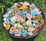 1 lb Bulk Lot Africa Mix Natural Rough Tumbling Rocks 2260 Carats Madagascar