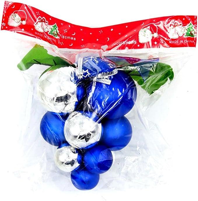 Bomcomi d/écorations de Toit de Raisin Cadeau de d/écoration de No/ël Ornements de Boule de No/ël Fournitures de cha/îne