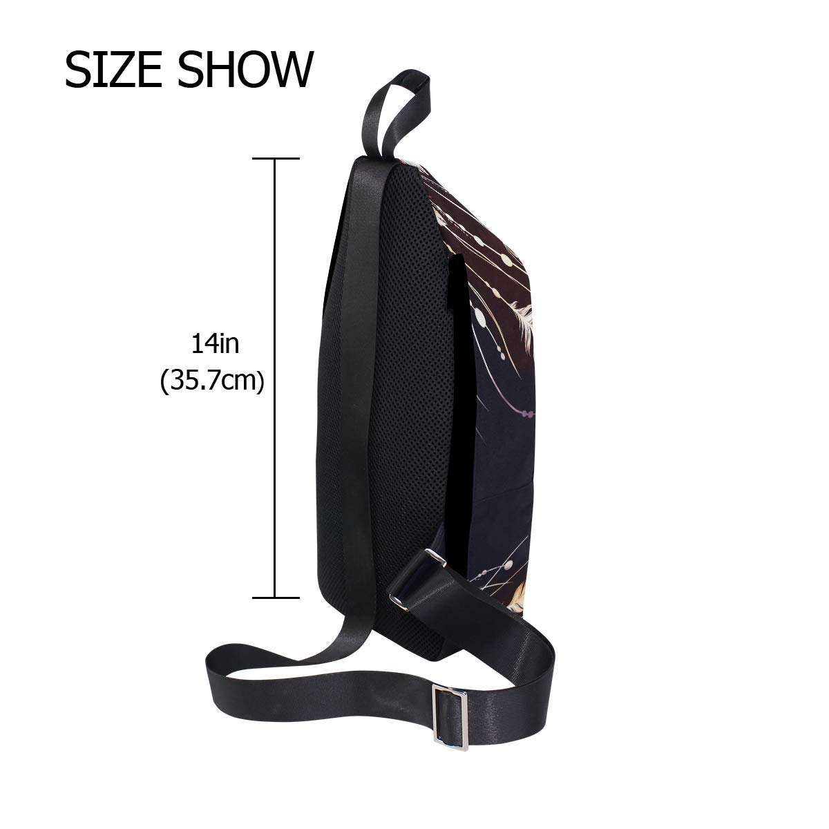 TFONE Ethnic Dream Catcher Crossbody Bag Lightweight Chest Shoulder Messenger Pack Backpack Sling Bag
