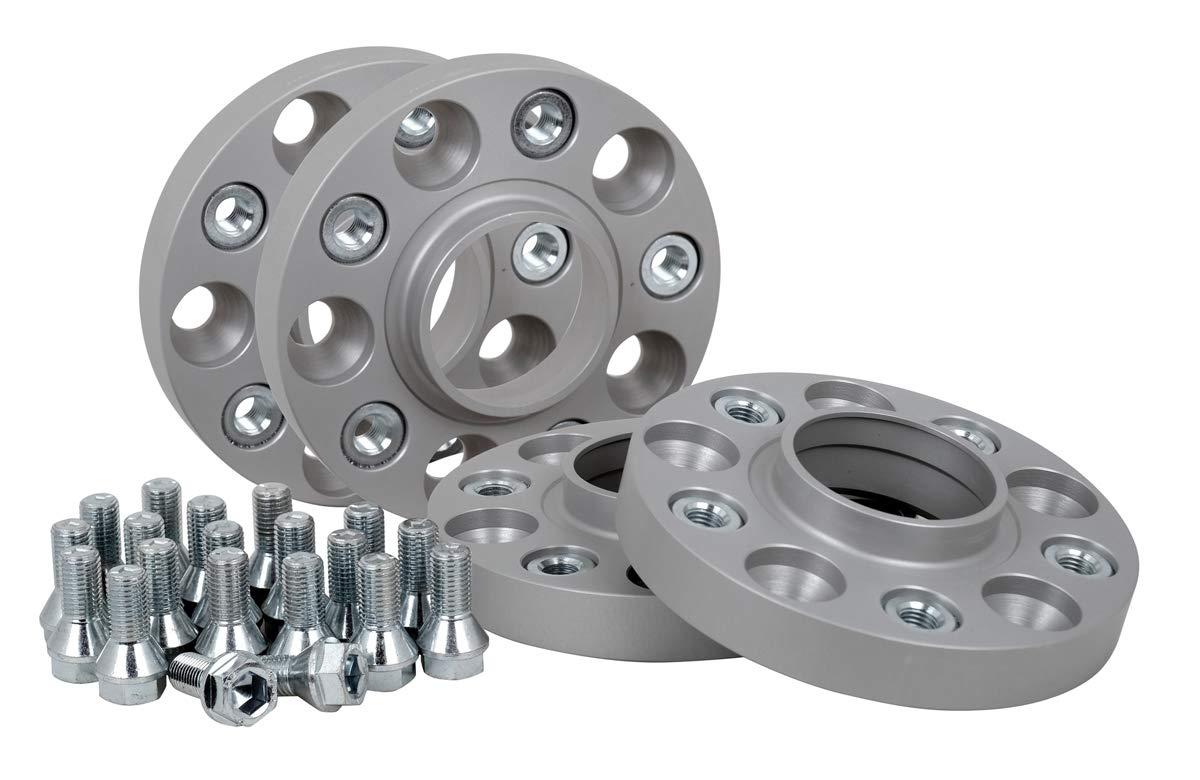 20 mm pro Scheibe // 40 mm pro Achse T/ÜV-Teilegutachten Spurverbreiterung Aluminium 4 St/ück inkl