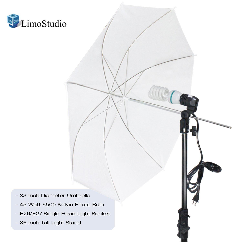 Amazon.com : LimoStudio Photography White Photo Umbrella Light ... for Umbrella Photography Lights  153tgx