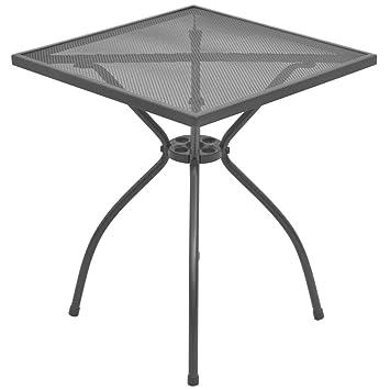 Festnight Gartentisch Tisch Terrassentisch Bistrotisch Stahlgeflecht