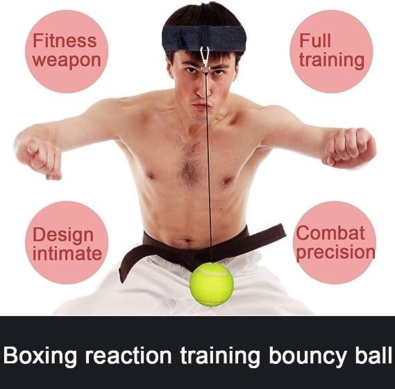 HATHOR-23 Boxen Reflex Ball Stanzen Geschwindigkeit Hand Auge Koordination F/ür Erwachsene Und Kinder Perfekt F/ür Verbesserung Geschwindigkeit Reaktionen Beweglichkeit Enth/ält a Hohe Ordnung Ball