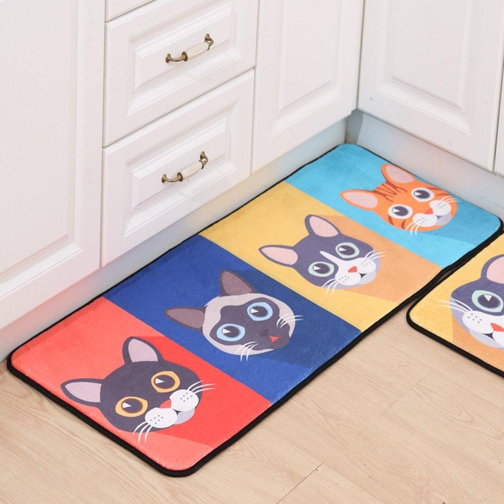 Vinmax Cartoon Doormat, Lovely Entrance Doormat Anti-slip Front Door Mat for Home Bathroom Kitchen Bedroom Living Room Carpet (D)