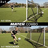 QuickPlay 2in1 Soccer Goal + Rebounder | Use as 8x5' Goal from The Front OR a Soccer Rebounder from The Back | The Ideal Team Shooting Target or Backyard Soccer Trainer – 2YR Warranty – New for 2018