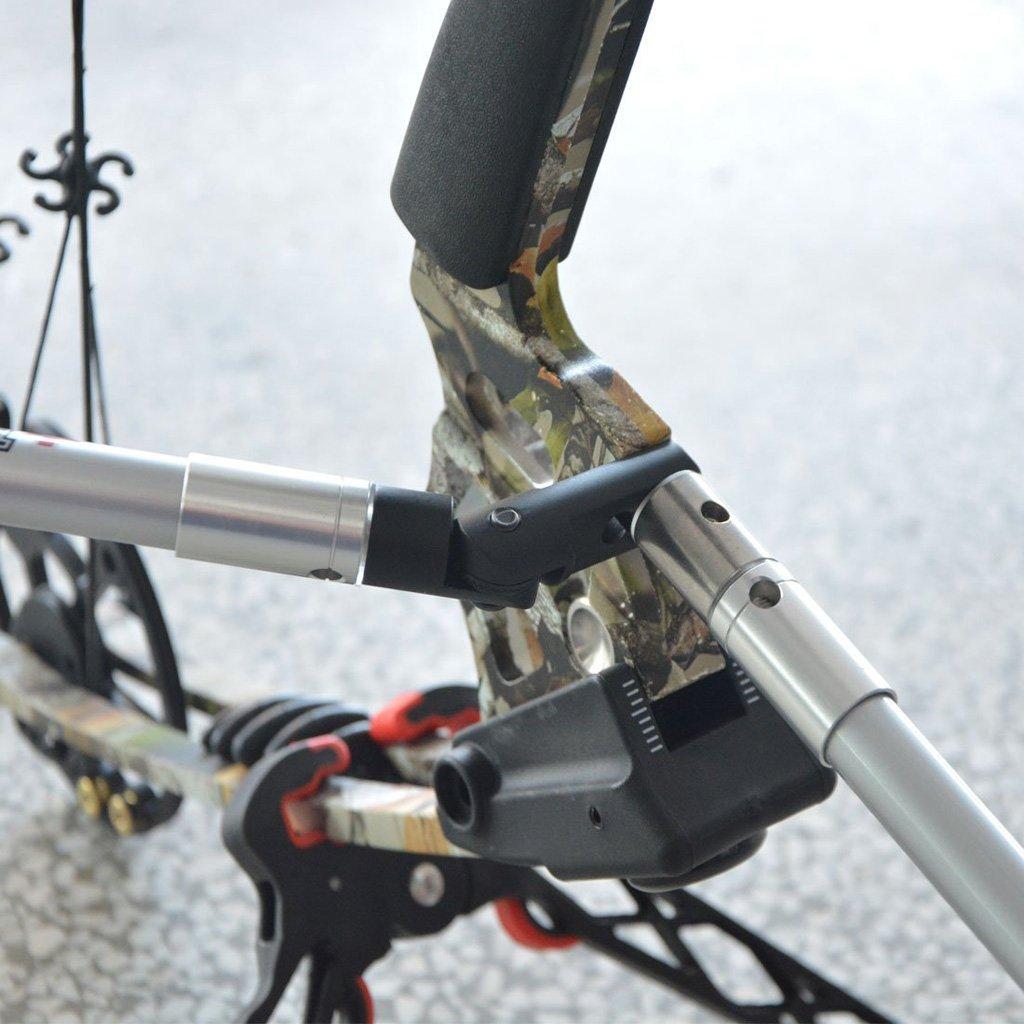 Baoblaze Support Adaptateur Stabilisateur de Tir /à Arc Kit Montage Barre Equilibre Kit Arc /à Poulie