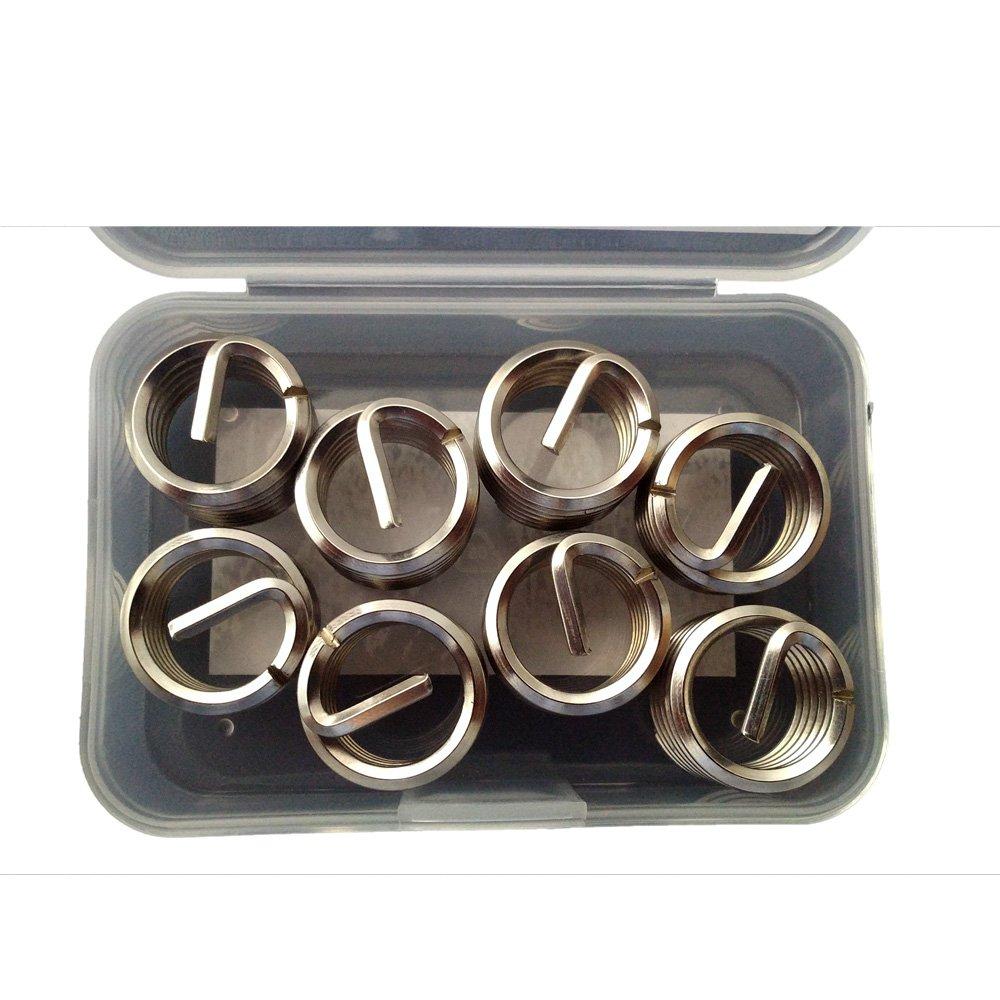 Fullerkreg Metric M18-2.5X1D Wire Thread Inserts,304 Stainless Steel,8Pcs