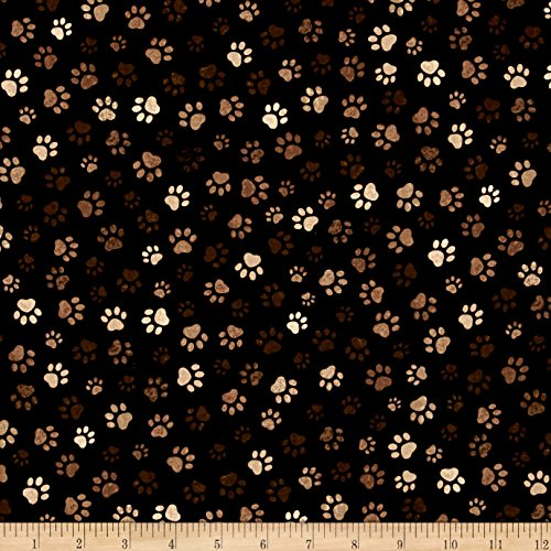 - Timeless Treasures Paw Print Mud Fabric by The Yard