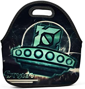 Lunch Bag Tote Geom-etryDa-sh Spaceship 3D Printed Reusable Lightweight Lunch Box for Men Women Picnic