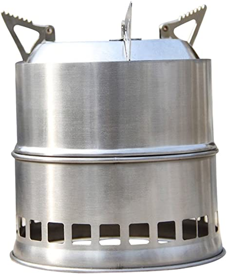 SODIAL Portatil Estufa Estufa de Madera/Estufa de lena Solidificado estufa de alcohol cocina del acero inoxidable al aire libre de picnic barbacoa ...