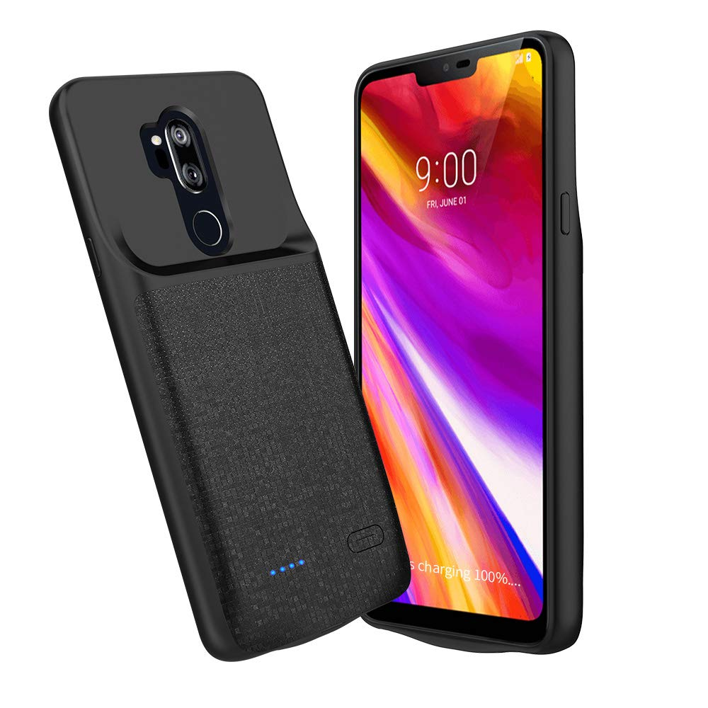 NEWDERY LG G7 Thinq Battery Case, 4700mAh LG G7 Slim Portable Extended Charger Case with Soft Edge Full Protection, Battery Charging Case with USB C Input for LG G7 Plus ThinQ by NEWDERY