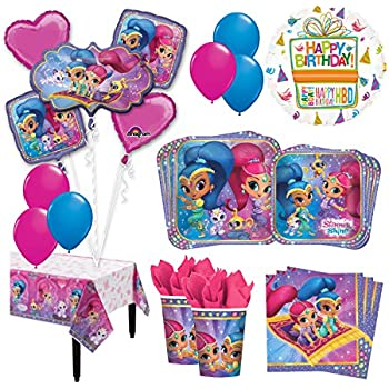 Amazon Com Shimmer And Shine Happy Birthday Party Balloons